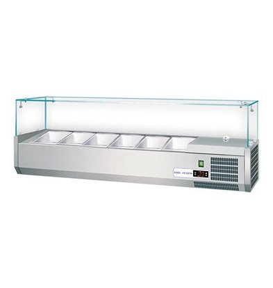 CaterCool Kühlvitrine | Sicherheitsglas | GN1/3x4-15cm