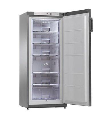 XXLselect Kühlschrank | Edelstahl | 196L | Innen-Beleuchtung