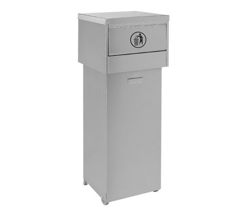 XXLselect Abfallbehälter | Edelstahl | fahrbar | 136L