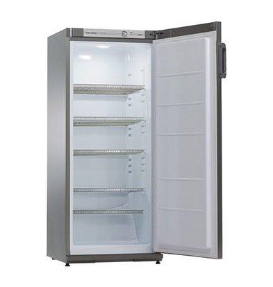 XXLselect Kühlschrank | Edelstahl | 267L | Innen-Beleuchtung | 6 Regalen