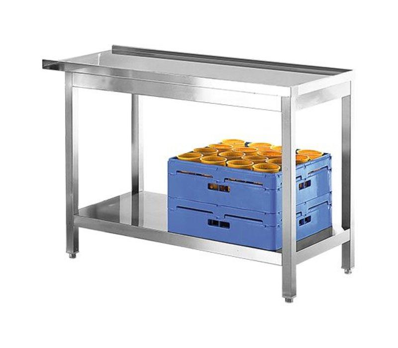 Modular Abfuhr/Ausgang Tisch | Edelstahl | 120cm