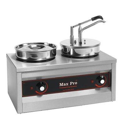 XXLselect Hot-Pot Speisen/Saucen-Wärmer | 2x4,5 Liter | Höhe 430mm