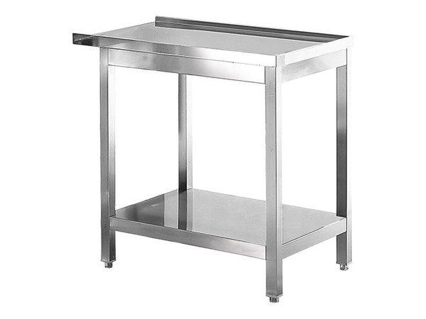 Modular Abfuhr/Ausgang Tisch | Edelstahl | 80cm