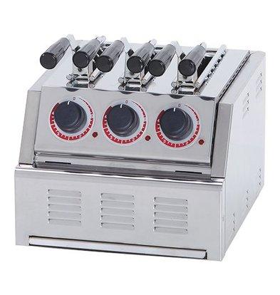 XXLselect Sandwich-Toaster | Edelstahl | 3 Schlitze | Kontroll-Lampe