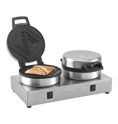 XXLselect Sandwich-Toaster | Edelstahl | Toastplatten Teflon beschichtet