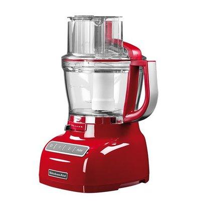 XXLselect Cutter | Rot | 3,1 Liter | 2 Geschwindigkeiten | 3 Messer + Ruhrbesen
