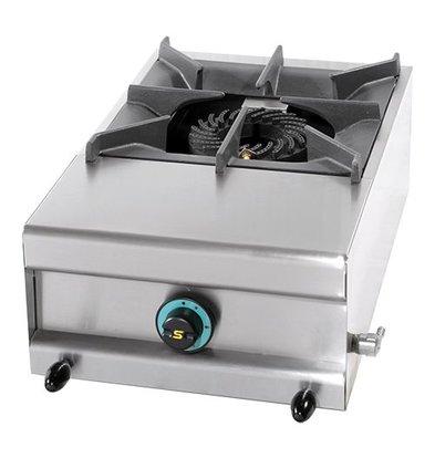 Modular Gasherd | 1 Brenner | Edelstahlgehäuse | Tisch Modell | 7,5kW