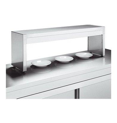 XXLselect Aufsatzregal | Edelstahl | 35(h)x30x180cm