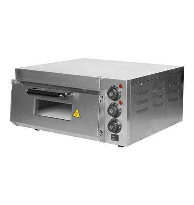 Caterchef Elektro-Pizzaofen | Edelstahl | 1 Kammer  40x40cm | 230V | 26,3(h)x58,5x56cm