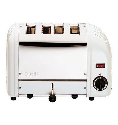 XXLselect Toaster   Edelstahl/Aluminiumguss   Weiß   4 Schlitze   230V