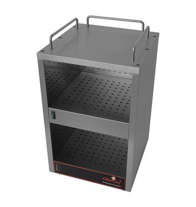 Caterchef Wärmeplatte | Edelstahl | 2 Etagen | 55(h)x34x32cm