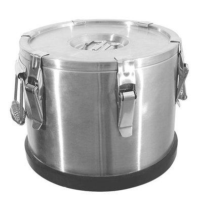 XXLselect Thermobehälter | Edelstahl | 6 Verschlussklammern | Auslassventil im Deckel | 10L