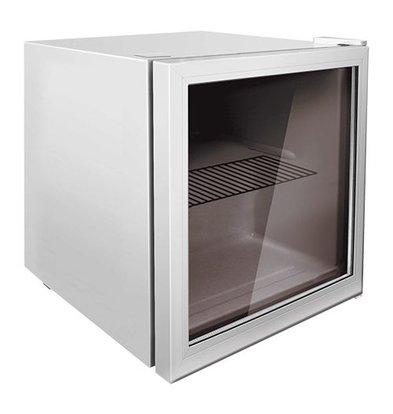 Exquisit Kühlschrank | Weiß | 50L | Glastür | Innen-Beleuchtung