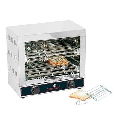 Caterchef Sandwich-Toaster | Edelstahl | 2 Etagen | 40,2(h)x27,7x44cm