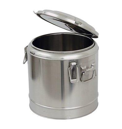 XXLselect Thermobehälter mit Deckel | Edelstahl | Rund | 25L