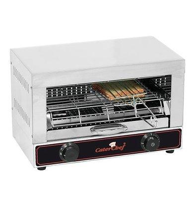 Caterchef Sandwich-Toaster | Edelstahl | 1 Etage | 28,4(h)x29,8x44cm