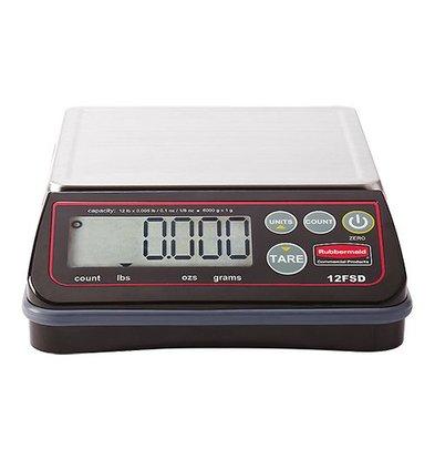 Rubbermaid Elektro-Waage   Edelstahlplatte   6kg/1gr