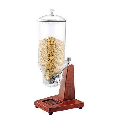XXLselect Cerealienspender | schwere Holzstand | Behälter Transparent | 7L