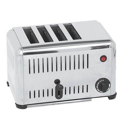 Caterchef Toaster | Edelstahl | 4 Schlitze | 37x21x(h)23cm