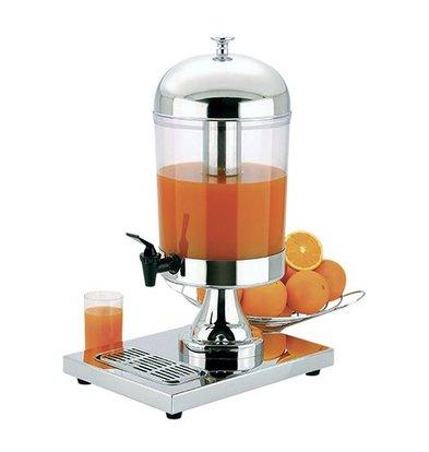 XXLselect Saftspender | Edelstahl | Acrylharz Behälter | Kühlung durch Edelstahl Rohr | 8L