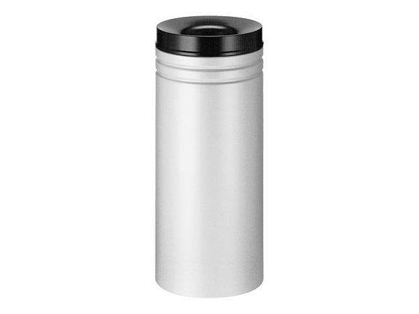 XXLselect Abfallbehälter mit schwarzem Löschring | Grau | 80L