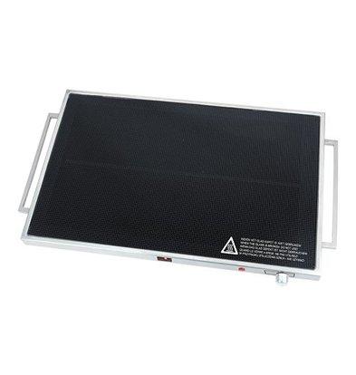 XXLselect Wärmeplatte | Edelstahl | 60°C-105°C | 4,3(h)x61x37,5cm