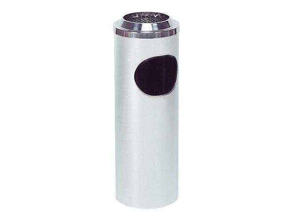 XXLselect Abfallbehälter mit Aschenbecher   Edelstahl   10L