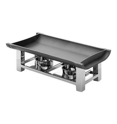 XXLselect Plattenwärmer | Edelstahl/ Aluminium | 2 Brenner