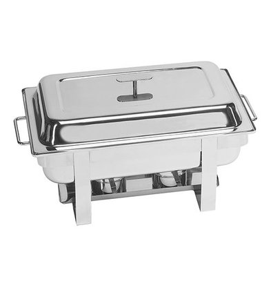 XXLselect Chafing Dish mit Deckel | Edelstahl | 1/1GN | Millennium