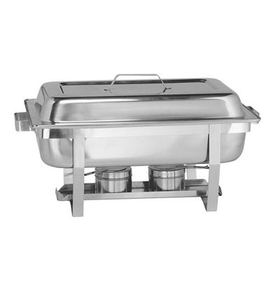 XXLselect Chafing Dish mit Deckel | Edelstahl | 1/1GN | Basic