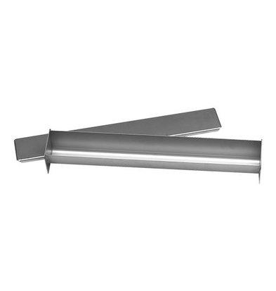 XXLselect Pasteten/Terrineform  mit Deckel   Edelstahl   45x6x6cm