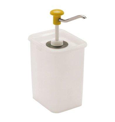 XXLselect Saucen Spender mit rechteckigem Kunststoff Behälter | 14x18cm | 3L