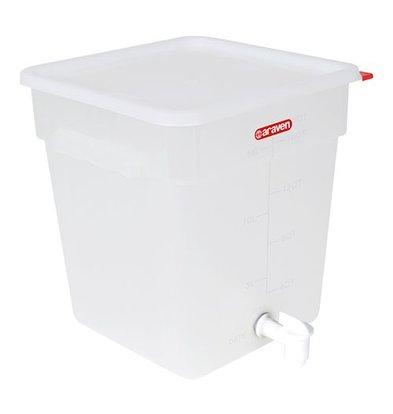 Araven Behälter mit Ablasshahn | Kunststoff | Weiß | 18L