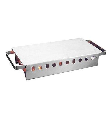 XXLselect Plattenwärmer mit Scharnierplatte | Edelstahl/Aluminium | 2 Brenner