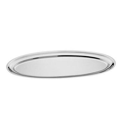 XXLselect Auslageplatte | Edelstahl | Oval | 80x31cm