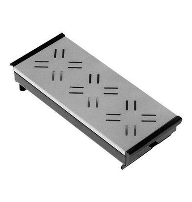 XXLselect Plattenwärmer mit Platte Aluminium | Schwarz | 3 Brenner