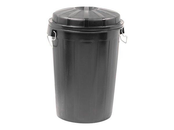XXLselect Abfallbehälter mit Deckel | Kunststoff | Schwarz | 95L