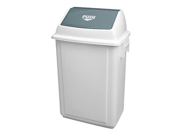 XXLselect Abfallbehälter | Kunststoff | Swing Deckel | Weiß | 40L