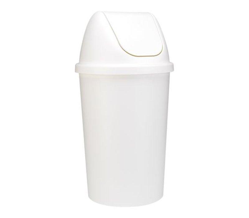 XXLselect Abfallbehälter | Kunststoff | Schwingdeckel | Weiß | 45L