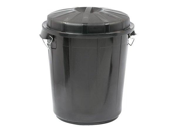 XXLselect Abfallbehälter mit Deckel | Kunststoff | Schwarz | 70L