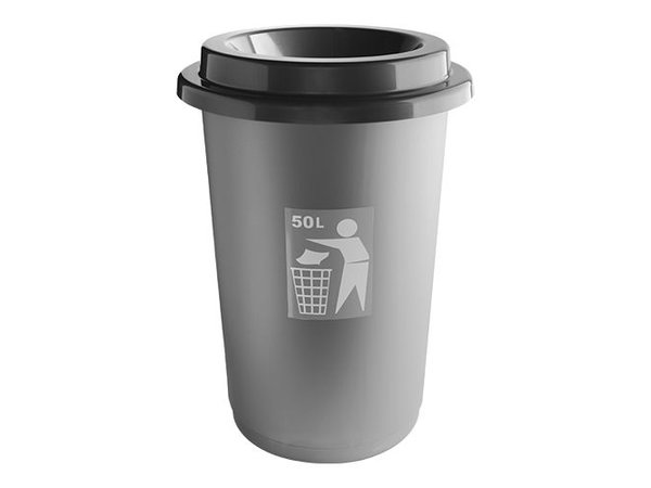 XXLselect Abfallbehälter | Kunststoff | Grau | 50L