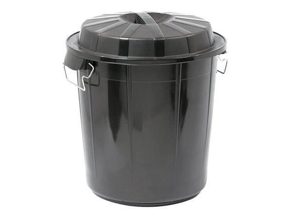 XXLselect Abfallbehälter mit Deckel | Kunststoff | Schwarz | 50L