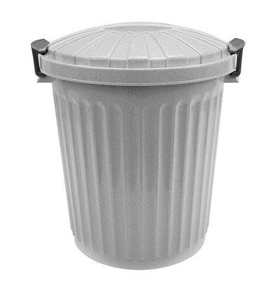 XXLselect Abfallbehälter mit Deckel | Kunststoff | Grau | 43L