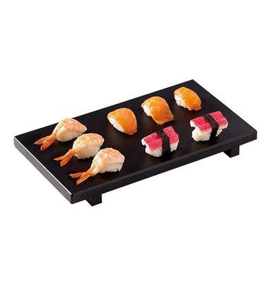 XXLselect Sushi Serviertablett | Polyäthylen | Schwarz | 30x17cm