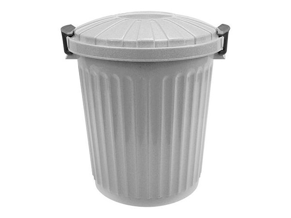 XXLselect Abfallbehälter mit Deckel | Kunststoff | Grau | 23L