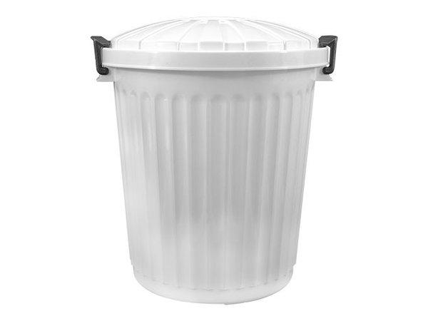 XXLselect Abfallbehälter mit Deckel | Kunststoff | Weiß | 23L