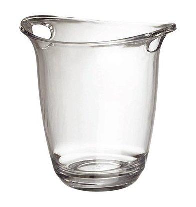 XXLselect Wein-Champagnerkühler | Polykarbonat | Transparent | Oval | Ø19cm