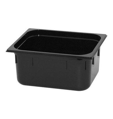 XXLselect GN Behälter | Polycarbonat | Schwarz | 1/2GN-150mm