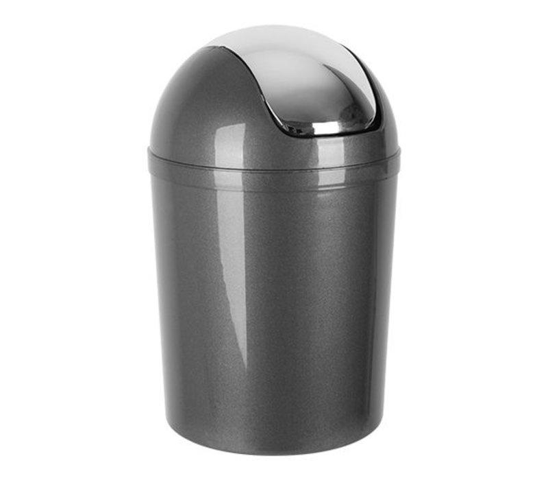 XXLselect Abfallbehälter | Kunststoff | Schwingdeckel | Grau | 5L