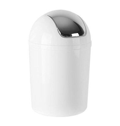 XXLselect Abfallbehälter | Kunststoff | Schwingdeckel | Weiß | 5L